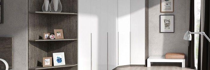Dormitorios con armarios puertas batientes de gran capacidad