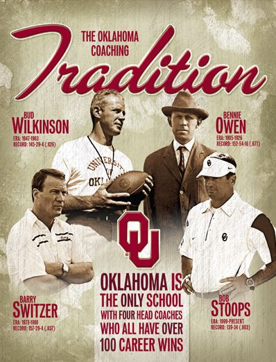 Inside cover of the 2012 OU Football Guide by OU Athletics Graphic Design.