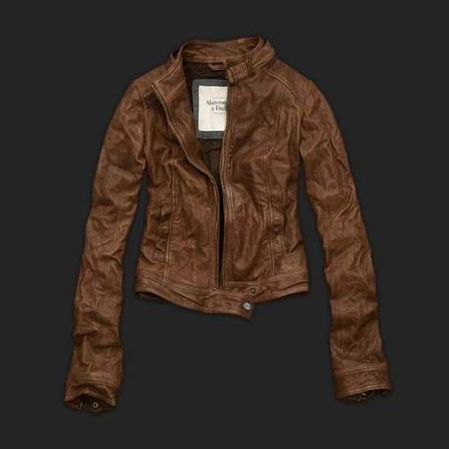 2012 New brown Abercrombie & Fitch Women Leather Jacket