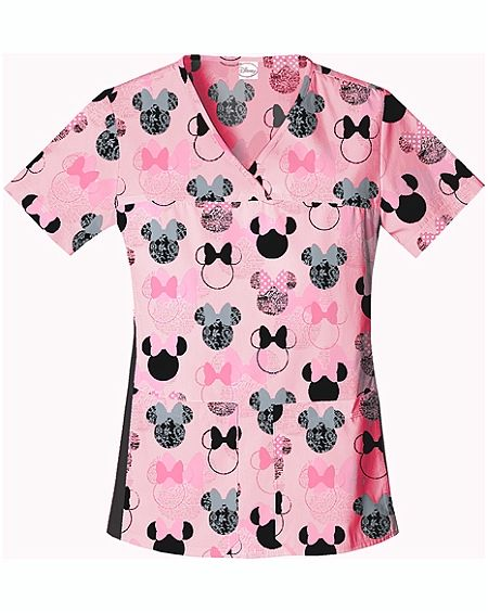 Hello Kitty Medical Scrubs | Cherokee V-Neck Top (Medical Scrubs) 6732C