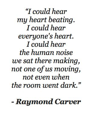 """""""What We Talk About When We Talk About Love"""" by Raymond Carver one of my favourite quotes from one of my favourite books."""