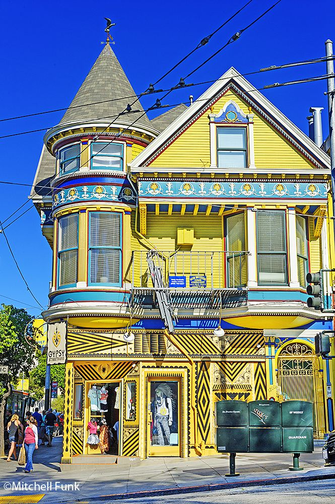 Victorian House And Store In Haight Ashbury, San Francisco   www.mitchellfunk.com