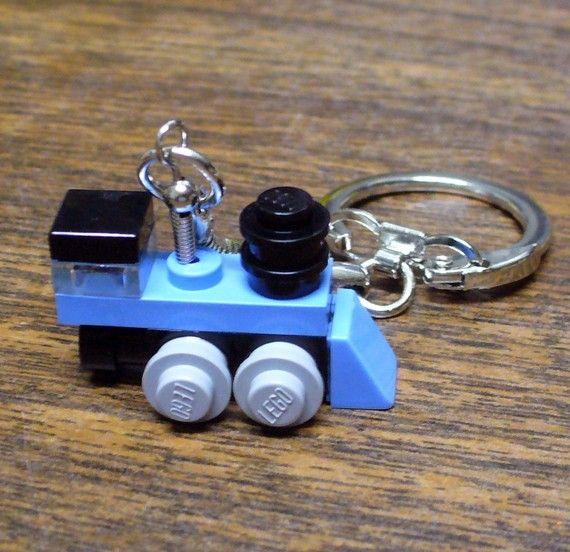 Love trains??  Mini lego train keychain <3