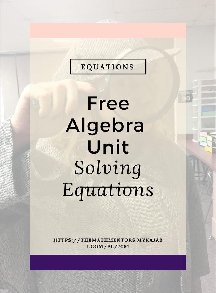 Free solving equations unit   solving equations activity   math activities   math games   algebra activities   algebra games   https://themathmentors.mykajabi.com/pl/7091