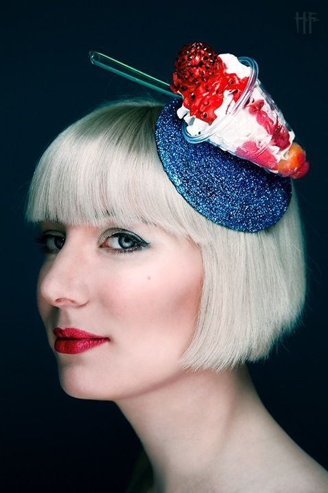 Love this!!! So unique....Screwball Icecream Diamante Fascinator