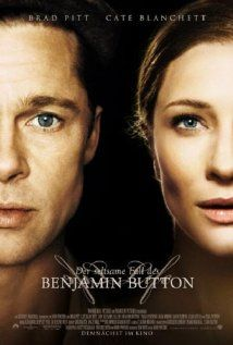 The Curious Case of Benjamin Button (2008) - Director: David Fincher - Starring: Brad Pitt, Cate Blanchett and Tilda Swinton   -   Tells the story of Benjamin Button, a man who starts aging backwards with bizarre consequences.: Benjamin Buttons, Good Movie, De Benjamin, Brad Pitt, David Fincher, Buttons 2008, Favorite Movie, Time Favorite, Curious Cases
