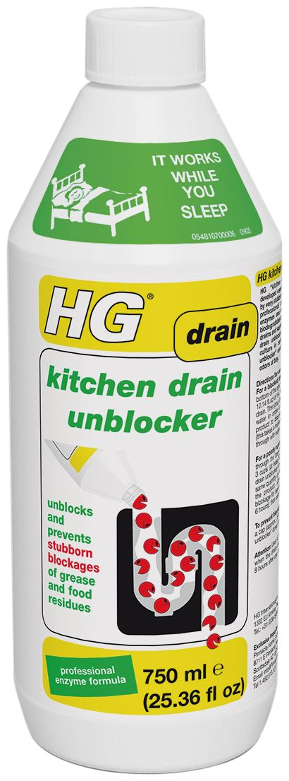 HG Problem Solvers - HG Kitchen Drain Unblocker 25.36 fl oz , 750 ml, $9.98 (http://www.hgproblemsolvers.com/hg-kitchen-drain-unblocker-25-36-fl-oz-750-ml/)