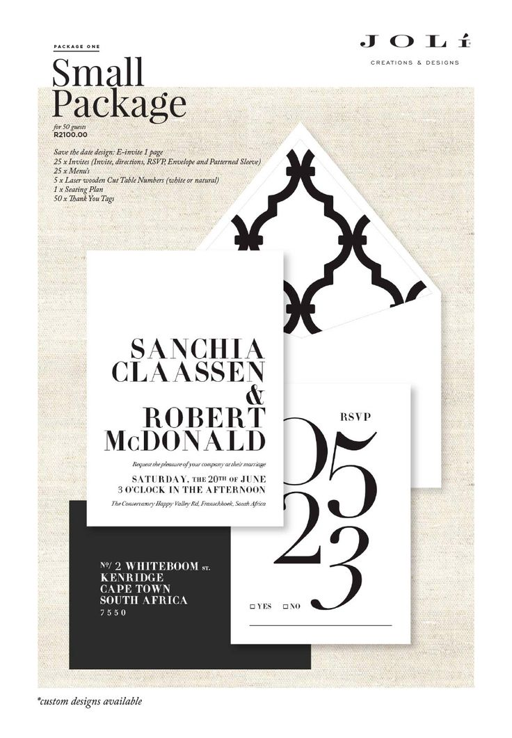 Wedding stationery packages - small package #makeitamomenttoremember