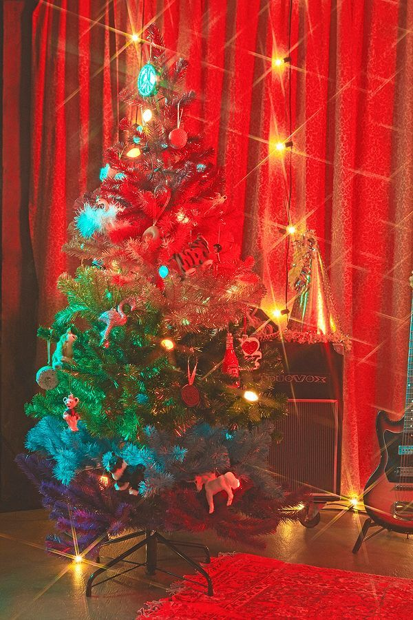5\u0027 Rainbow Faux Christmas Tree Wonderful time