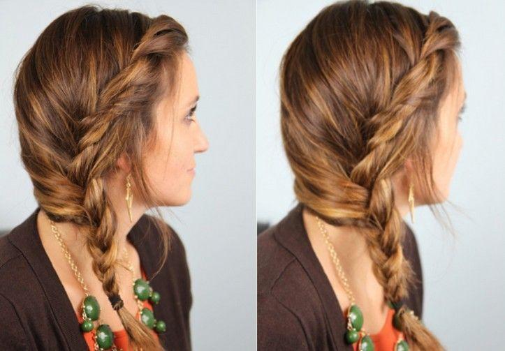 503 Niedliche seitlich geflochtene Frisur für Mädchen Einfacher lockerer Zopf…, #einfache…