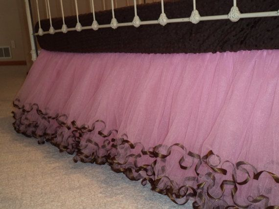 Tulle Crib Skirt  3 Sided by Ilovemyblankie on Etsy