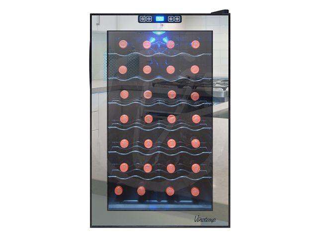 vinotemp wine fridge. VT-28TSBM Vinotemp 28-Bottle Mirrored Thermoelectric Wine Cooler Fridge