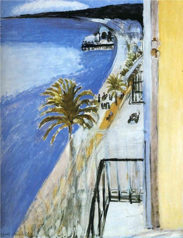 Henri Matisse  desde la habitacion del hotel