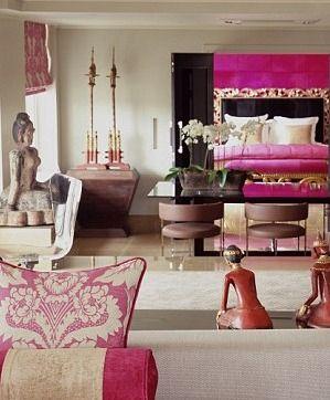 pink interior design, décor-DG