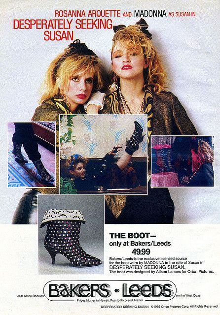 1985 Desperately Seeking Susan Boots Ad by Kitten Moon, via Flickr