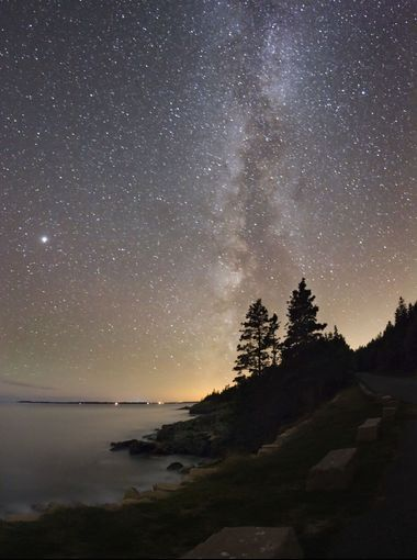 Maine's Acadia National Park has worked with neighboring Bar Harbor to keep light pollution to a minimum.