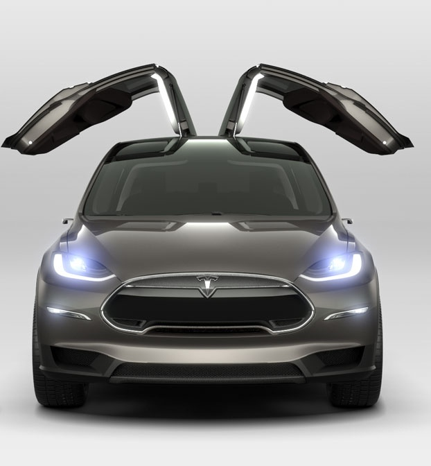 Model X | Tesla Motors (available 2014). I am not a car person, but something about Tesla's cars I love...I want one.
