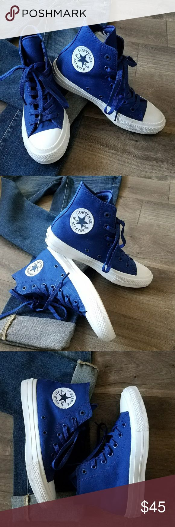 Converse Chuck Taylor ll New without box.   Converse Chuck Taylor ll high top.  Featuring Nike lunarlon insoles.  Comes with extra white shoe laces. Converse Shoes Sneakers