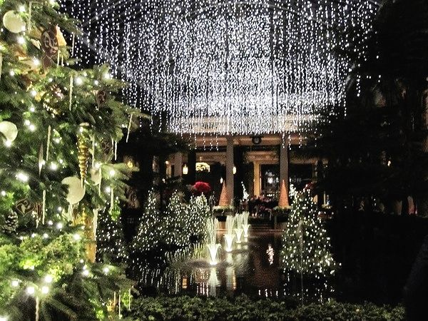 christmas at longwood gardens kennet pennsylvania usa - Longwood Gardens Christmas Lights