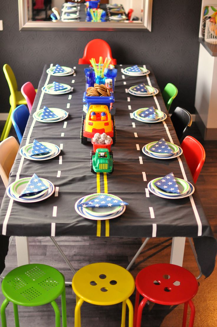 Like the tablecloth - black $ store tablecloth with washi tape/electrical tape?