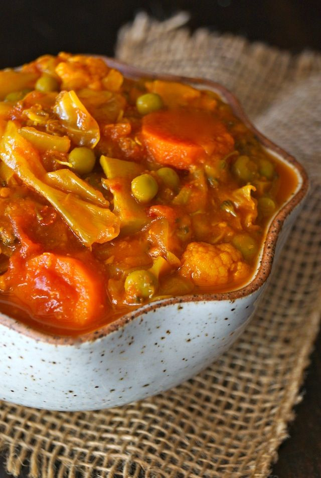 Vegetarian Cabbage Stew With Tomato And Turmeric