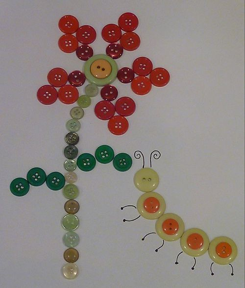 cute button craft for baby #diy #crafts