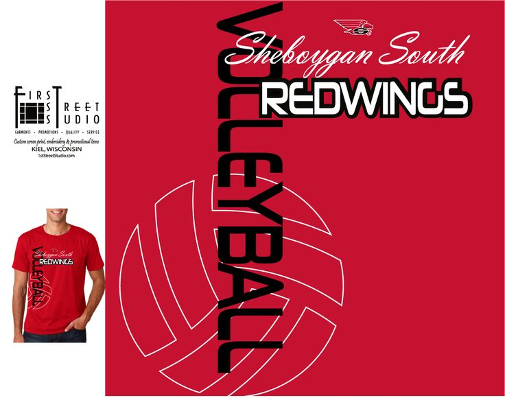 Design by Jamie D. Volleyball Team T-Shirt