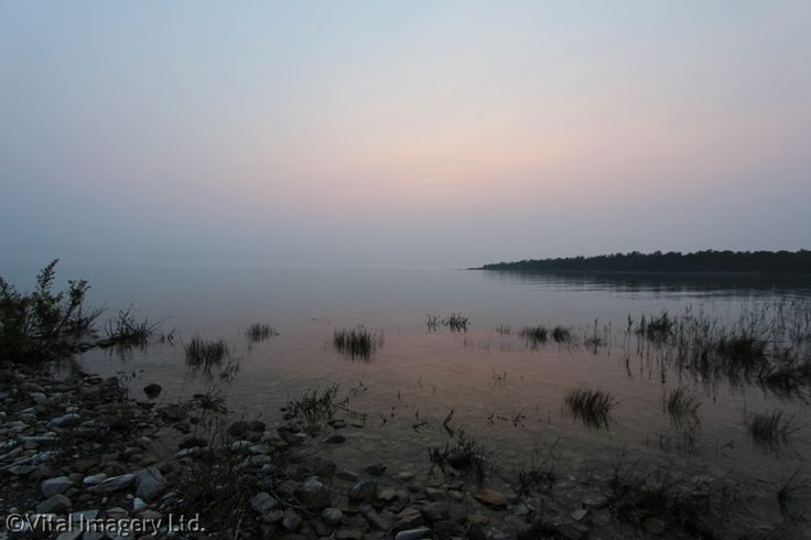 Misty Sunset at Inverhuron Provincial Park