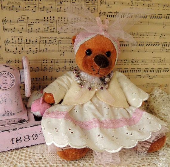 Teddy Bear Girl Preschool Toy Montessori Pretend Play Toy