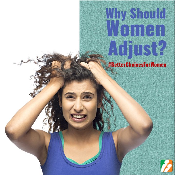5) Who tends to accept and adjust more: women or men? Tell us WHY that needs to change. #BetterChoicesForWomen