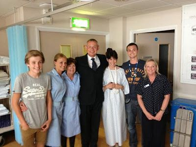 On the set of Doc Martin Series 6, episode 8, when Martin has to operate on Louisa.