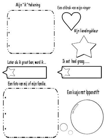 Een vriendjesboek maken voor in de klas.