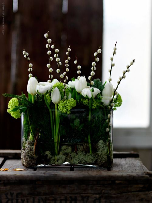 White & Green Flower Arrangement