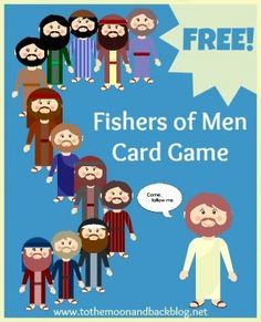 FREE Printable Fishers of Men card game to help children learn the names of the disciples!