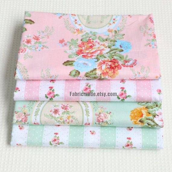 Questo tessuto è un tessuto di cotone fiore piacevole, bel fiore rosa rosa, shabby chic, 2 stili: un fiore di rosa specchio, strisce rosa fiore B, C specchio verde fiore, strisce verde fiore D.   * Cotone tessuto: 100% cotone, rosa, twill (tessere), stile shabby chic, un po di peso leggero, 170g/iarda * Larghezza 63 pollici (160cm), elencato per 1/2 yard 18 X 63 (45cmX160cm). * Ulteriori yardage sarà tagliato in un unico pezzo continuo. * Vestito per cucire crafting, home decor, cor...