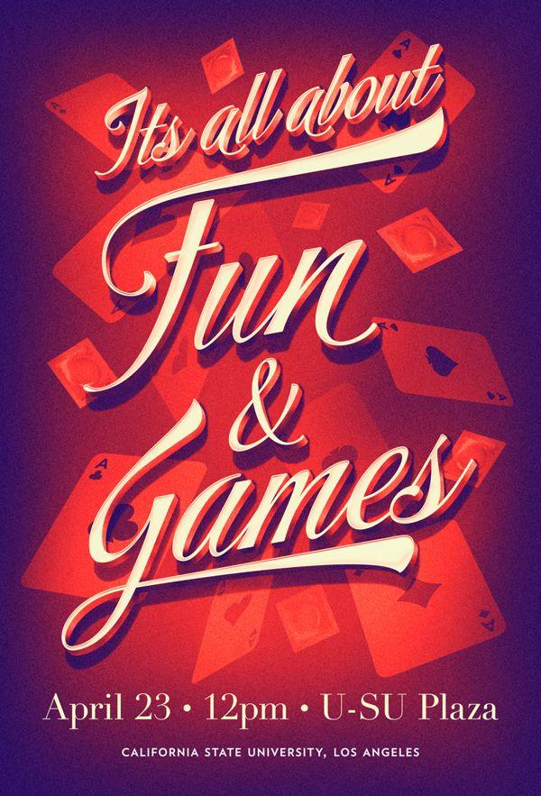 It's All About Fun & Games by John-Paul Bonite, via Behance