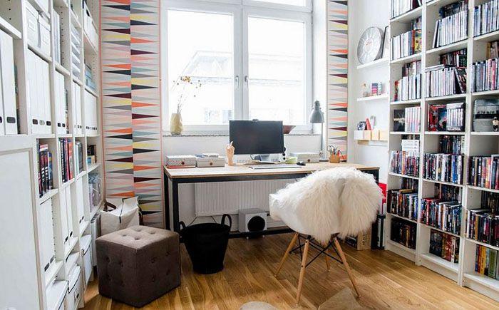 Оригинальный декор домашнего офиса