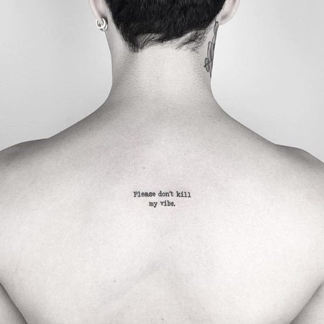 Good Vibes Only Small Back Tattoos Back Tattoos Small Tattoos