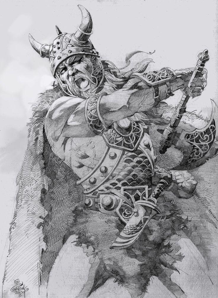 viking drawing | El Viking by ~elshazam on deviantART