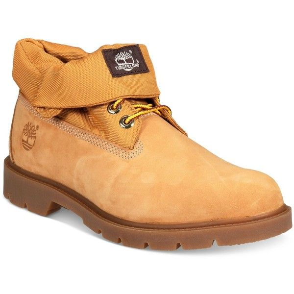 Timberland Men's Icon Basic Roll Top Waterproof Boots ($125) ❤ liked on Polyvore featuring men's fashion, men's shoes, men's boots, men's work boots, wheat nubuck, mens waterproof work boots, timberland mens work boots, timberland mens boots, mens boots and mens waterproof boots