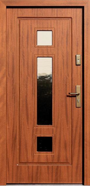 Drewniane wejściowe drzwi zewnętrzne do domu z katalogu modeli klasycznych wzór 682,2