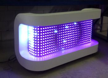 Modern LED DJ Booth. Very clean! #NYXEvents #CorporateEntertainment #CorporateEvents                                                                                                                                                     More