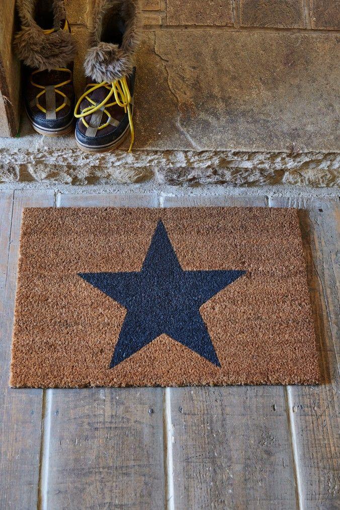Next Grey Star Doormat Grey Door Mat Blackout Roller Blinds Stylish Doors