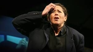 """Four American Characters:: Writer and actor Anna Deavere Smith gives life to author Studs Terkel, convict Paulette Jenkins, a Korean shopkeeper and a bull rider, in excerpts from her solo show """"On the Road: A Search for American Character."""""""