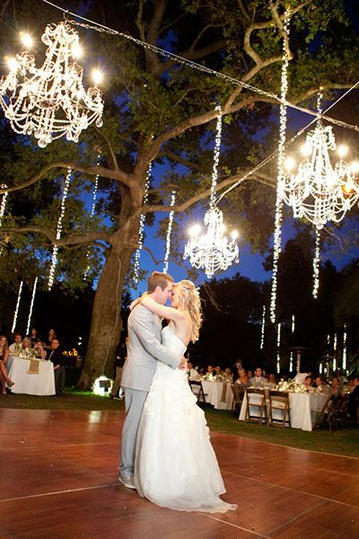 """outdoor chandeliers and """"twinkle lights"""" - picture #58 - the perfect definition of romantic!"""