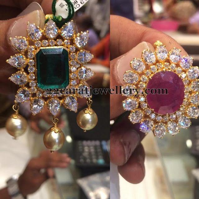 Jewellery Designs: 12 Grams Lockets for Black Beads Set