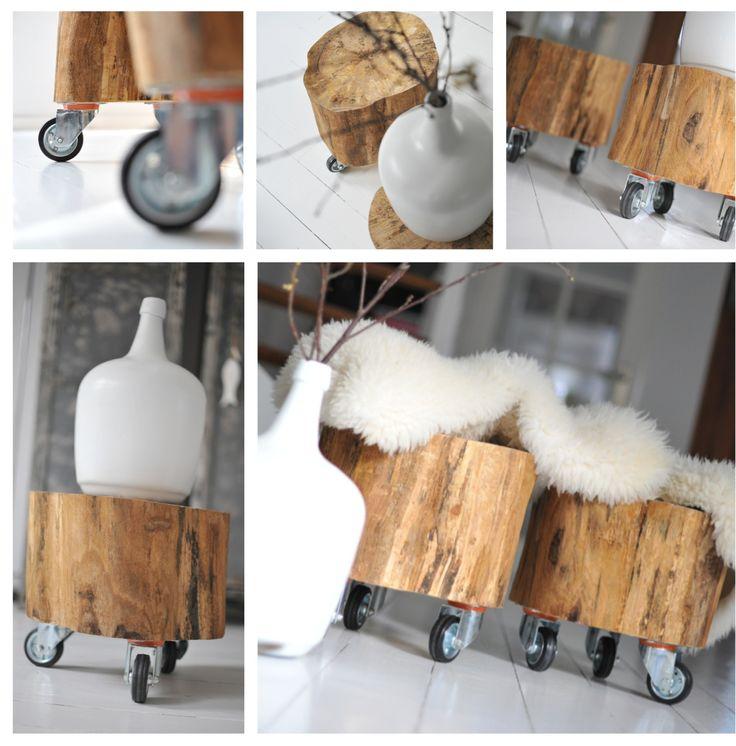 Zo makkelijk zelf doen! Chunk of wood and wheels!