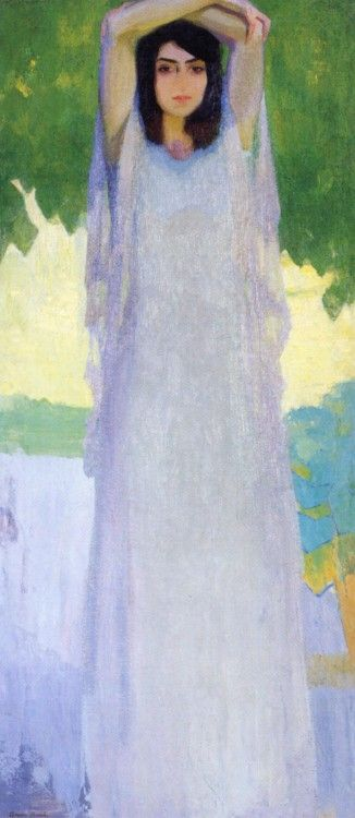 La folle (The Crazy), 1916 by Amedeo Bocchi (Italian 1883-1976).....from The Three Sisters (Triptych)