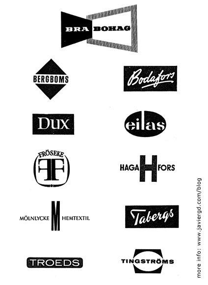 vintage furniture logo.  Vintage Mid Century Modern Swedish  Scandinavian Furniture Logos On Vintage Logo