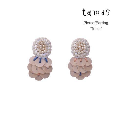 tamas Accessories(タマス アクセサリー)スパンコール+ビーズ ピアス、イヤリング